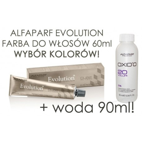 Alfaparf Evloution Of The Color profesjonalna farba do włosów 60ml + Woda 90ml